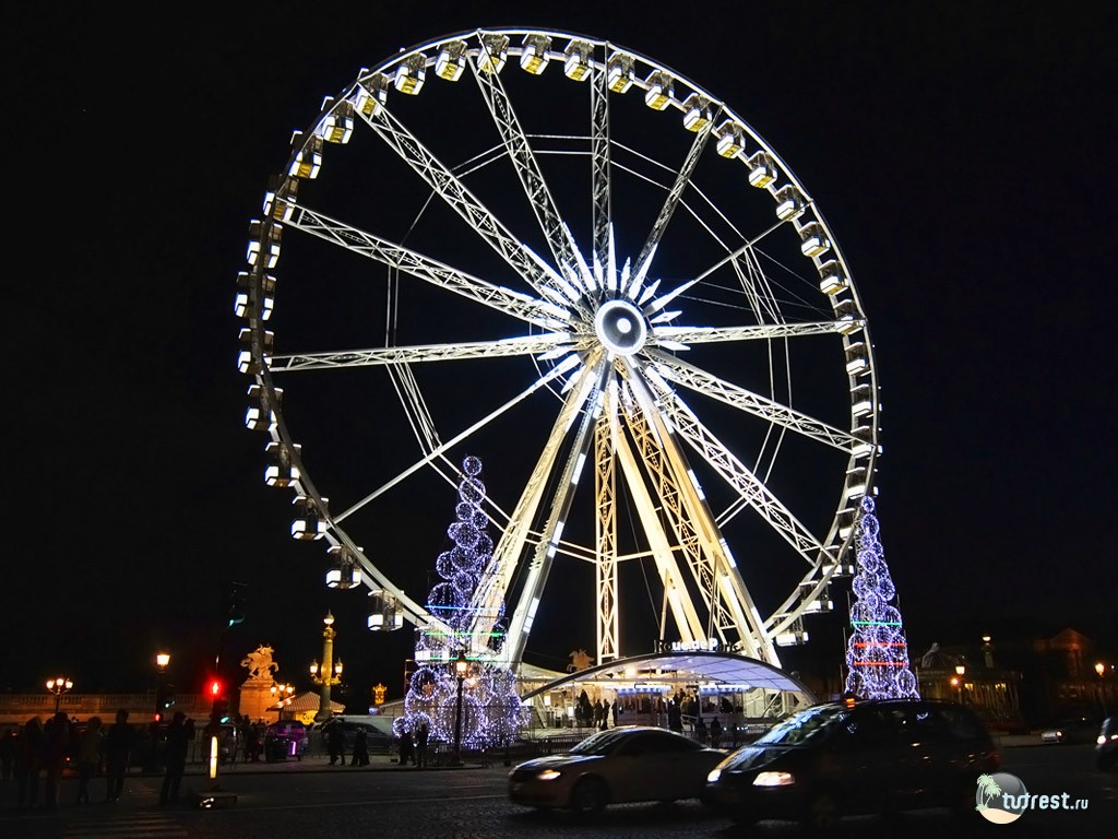 Париж колесо обозрения